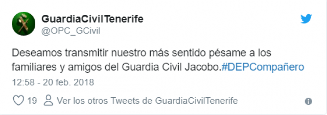 TWEETER GUARDIA CIVIL