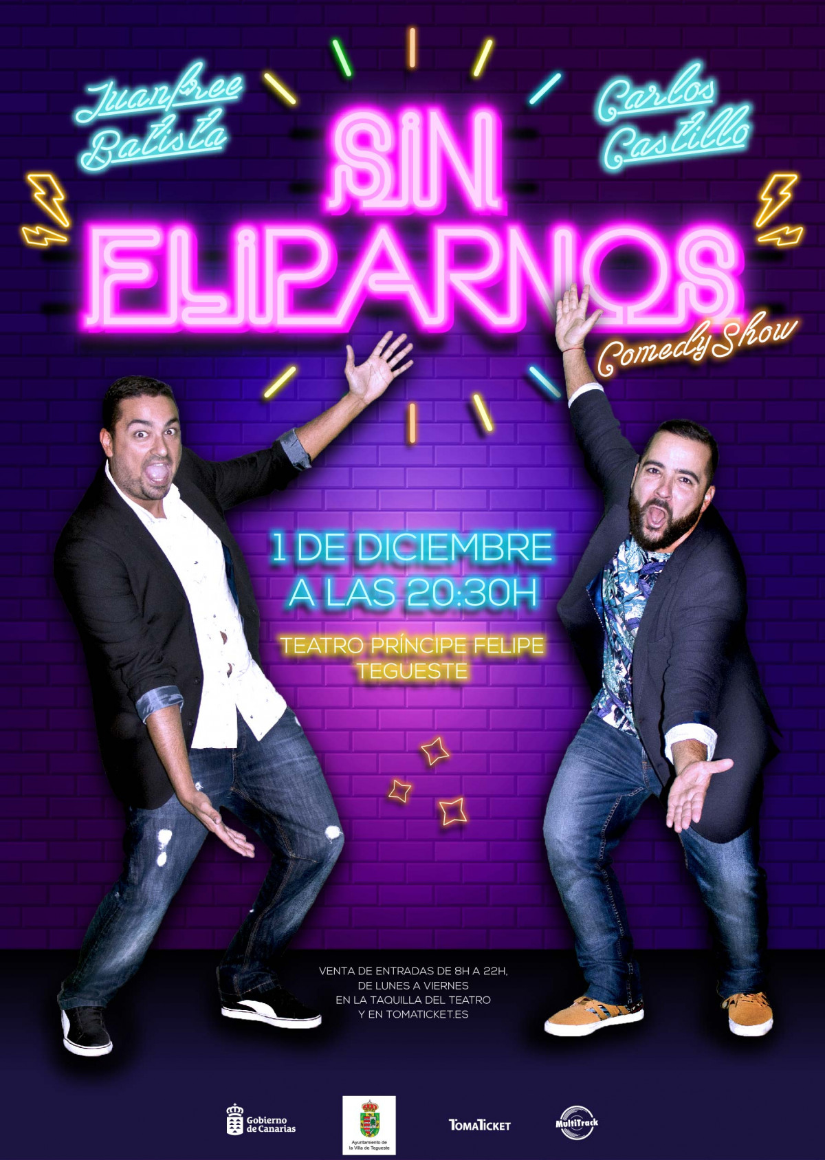 CARTEL JUANFREE BATISTA Y CARLOS CASTILLO   SIN FLIPARNOS MEDIA 01 copia